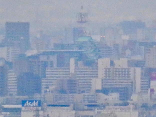 定光寺展望台から見た景色:名古屋城 - 2
