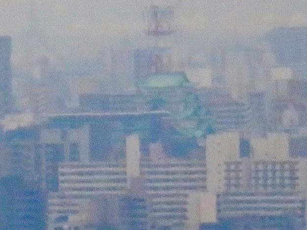 定光寺展望台から見た景色:名古屋城 - 3