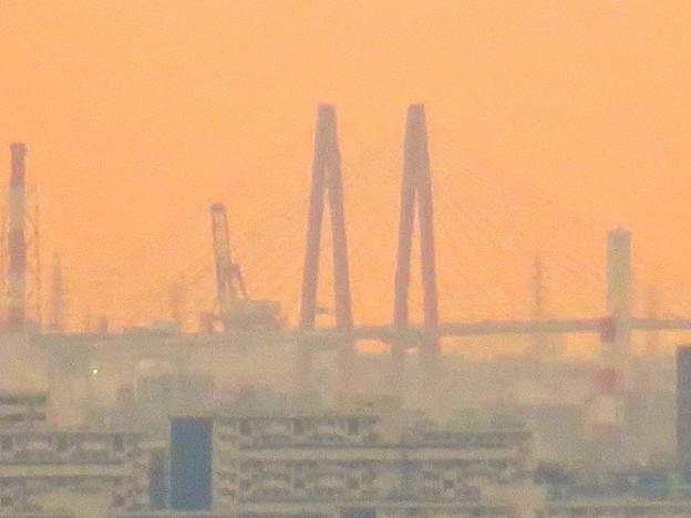 定光寺展望台から見た景色:名港中央大橋