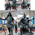 写真: 名古屋駅西口に桶狭間合戦場PRの織田信長像と今川義元像 - 7