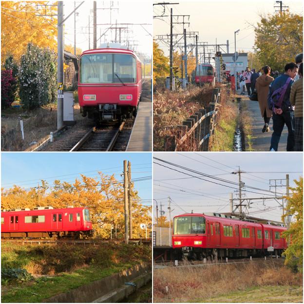 名鉄尾西線 山崎駅周辺の黄葉 - 2