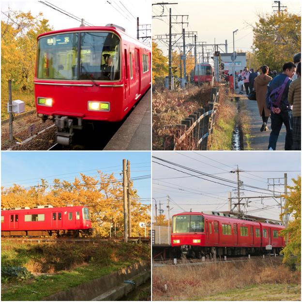 名鉄尾西線 山崎駅周辺の黄葉 - 4