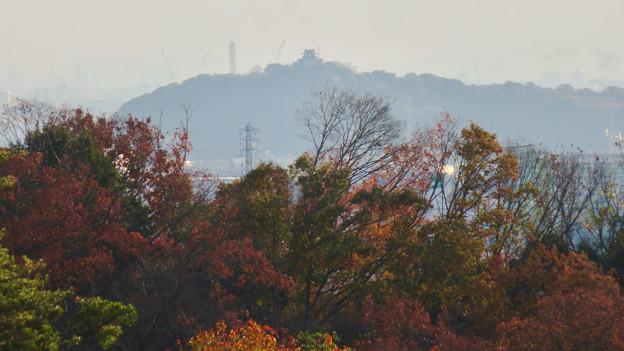 寂光院の展望台から見た景色 - 21:小牧山と小牧城