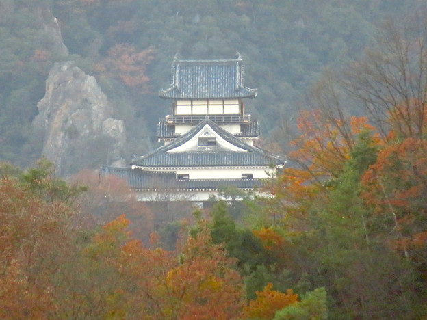寂光院の展望台から見た景色 - 25:犬山城