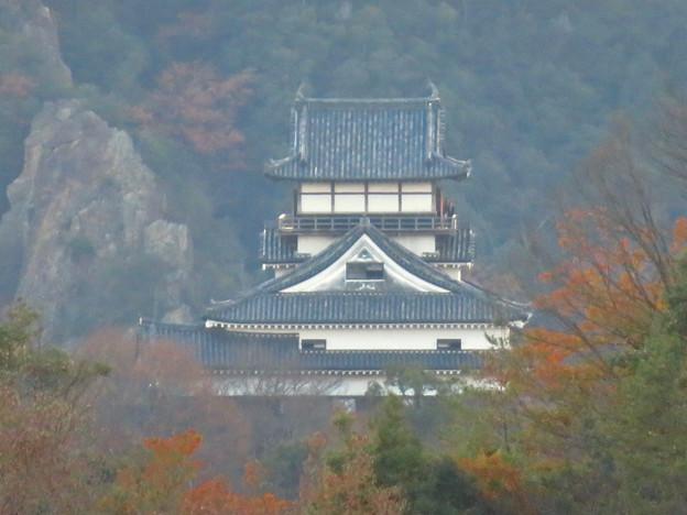 寂光院の展望台から見た景色 - 27:犬山城