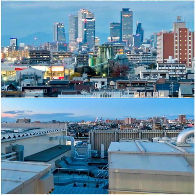ららぽーと名古屋みなとアクルス駐車場から見た景色 - 23:名駅ビル群