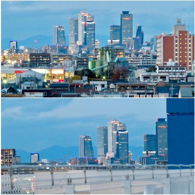 ららぽーと名古屋みなとアクルス駐車場から見た景色 - 24:名駅ビル群