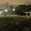 桃花台線の桃花台中央公園南側高架撤去工事(2018年12月13日):撤去予定の高架の撤去が完了 - 5