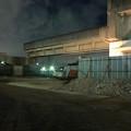 桃花台線の桃花台東駅周辺撤去工事(2018年12月13日):下ろされた高架部分が駅前から移動