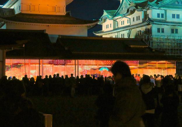 名古屋城×NAKED NIGHT CASTLE OWARI EDO FANTASIA 2018:本丸御殿の巨大横長プロジェクション・マッピング - 2