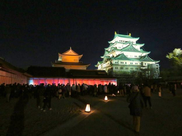 名古屋城×NAKED NIGHT CASTLE OWARI EDO FANTASIA 2018:本丸御殿の巨大横長プロジェクション・マッピング - 4