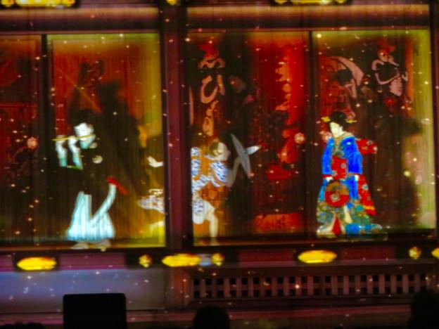 名古屋城×NAKED NIGHT CASTLE OWARI EDO FANTASIA 2018:本丸御殿の巨大横長プロジェクション・マッピング - 10
