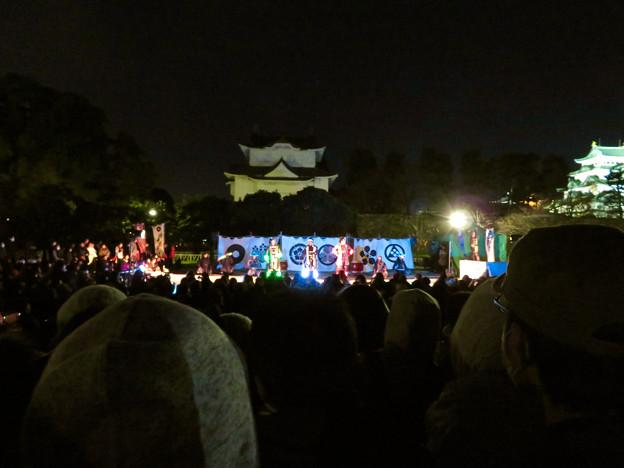 名古屋城×NAKED NIGHT CASTLE OWARI EDO FANTASIA 2018 No - 22:蛍光武具を付けた名古屋おもてなし武将隊のステージ