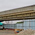 桃花台線の桃花台東駅周辺撤去工事(2018年12月23日):もう片方の高架も撤去開始 - 9