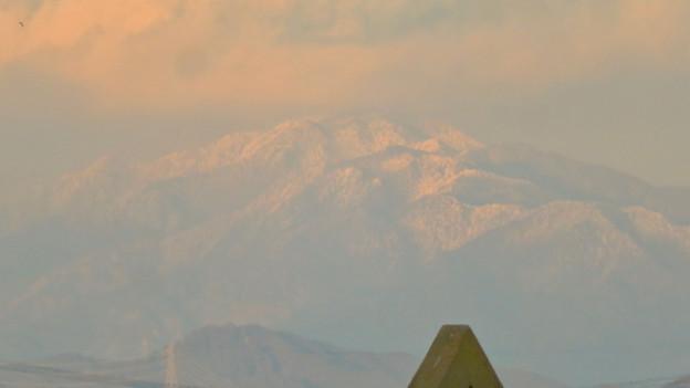 雪を頂いてた御嶽山(2018年12月)- 4