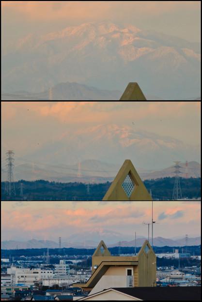 雪を頂いてた御嶽山(2018年12月)- 7
