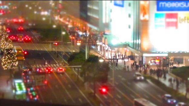 大名古屋ビルヂング5階から見下ろした夜の名駅通 - 3