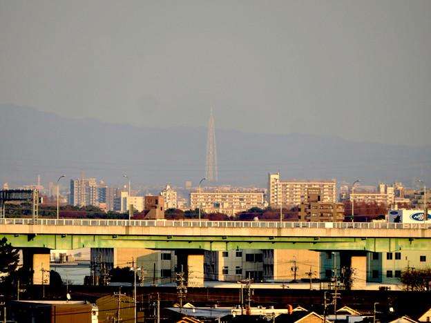 清洲城天守閣から見た景色:瀬戸デジタルタワー - 1