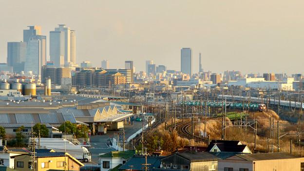 清洲城天守閣から見た景色:名駅ビル群とささしまライブの建物 - 1
