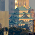 清洲城天守閣から見た景色:名古屋城と名古屋市役所 - 3