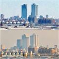 清洲城天守閣から見た景色:2012年と2019年の名駅周辺比較 - 2