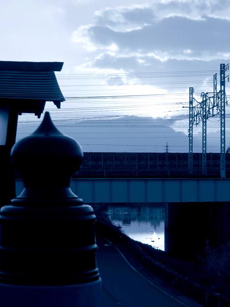SX730HS:クリエイティブショットで撮影した清洲城前大手橋の欄干 - 6