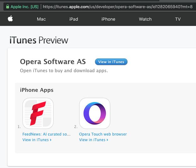 iOS版Opera Miniは開発終了?それともAppleからバンされた?? - 1:USのApp Storeページ