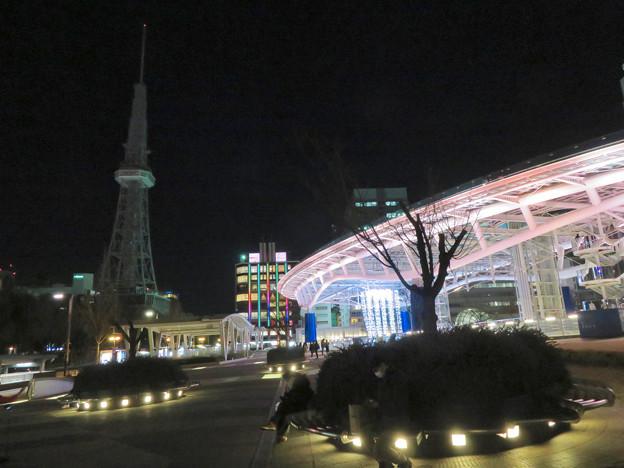 改修工事のためイルミネーションが消えてた名古屋テレビ塔(2019年1月13日) - 14