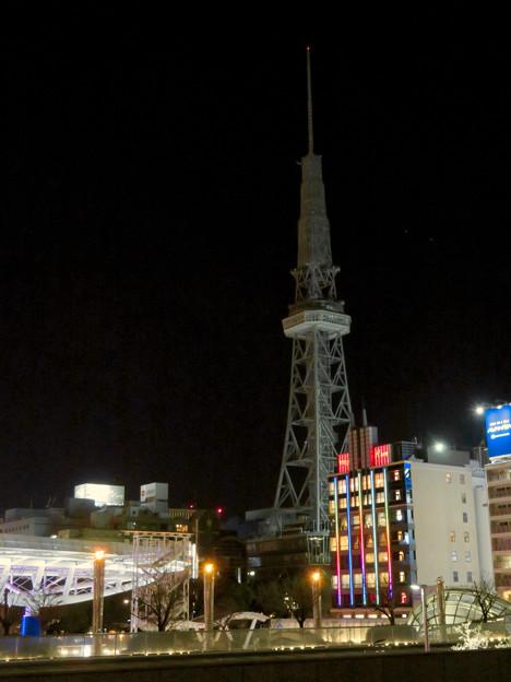 改修工事のためイルミネーションが消えてた名古屋テレビ塔(2019年1月13日) - 20