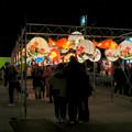 Photos: 名古屋中国春節祭 2019(夜間)No - 9:カラフルで色んな形をしてた提灯