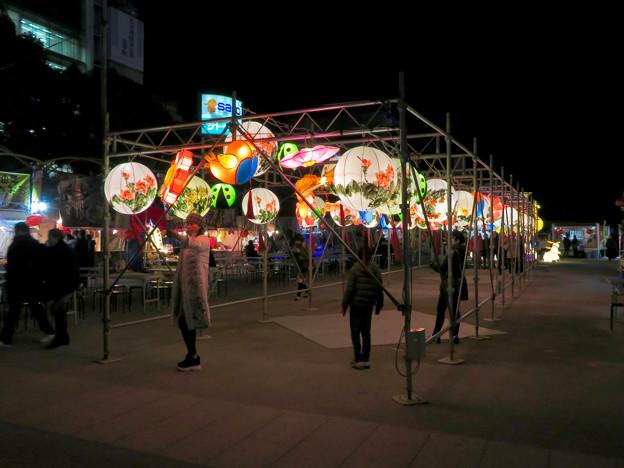 名古屋中国春節祭 2019(夜間)No - 14:カラフルで色んな形をした提灯
