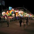 Photos: 名古屋中国春節祭 2019(夜間)No - 14:カラフルで色んな形をした提灯