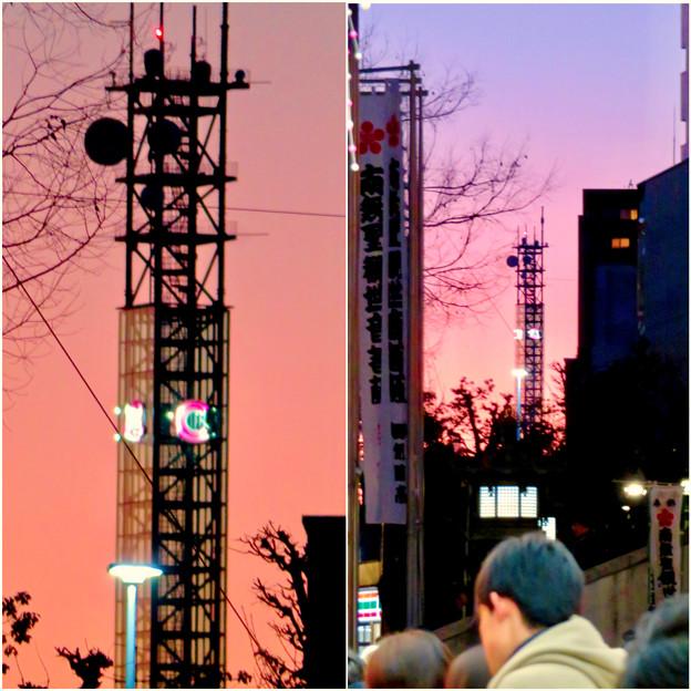 大須商店街:大須観音手前から見た中京テレビ本社ビルの電波塔 - 5