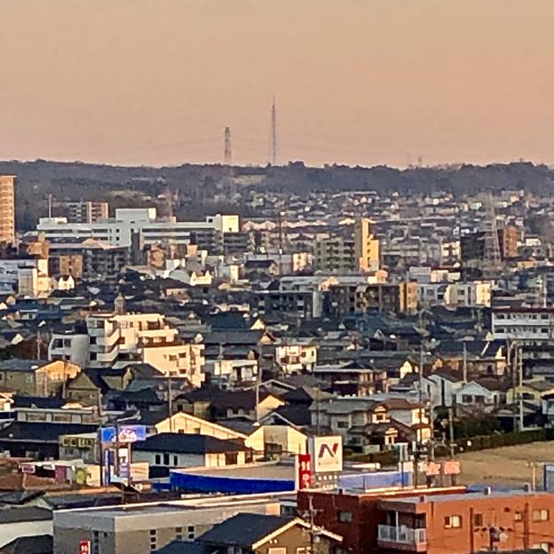 円福寺の展望台から見た夕焼け - 2