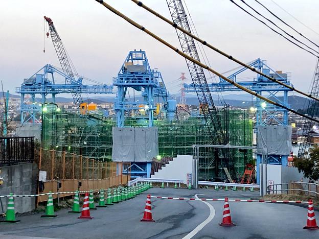 建設中のリニア非常口工事現場(2019年2月18日) - 4