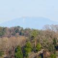 花フェスタ記念公園:花のタワーの展望階から見た景色 - 9(雪はほとんど無かった恵那山)
