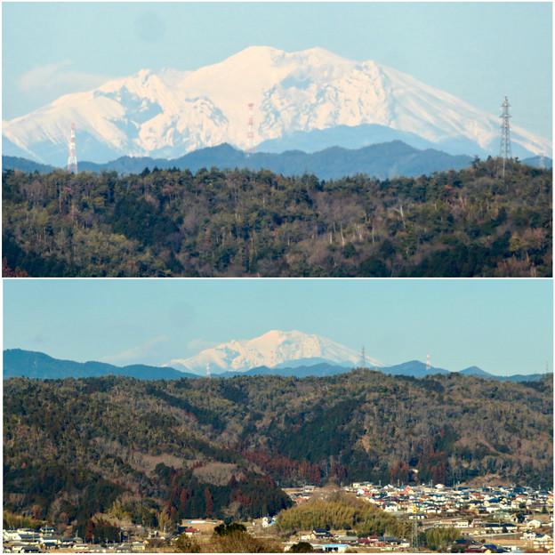 花フェスタ記念公園:花のタワーの展望階から見た景色 - 21(雪を頂く御嶽山と乗鞍岳)