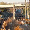 JR可児駅から見た名鉄広見線の線路(犬山方面)