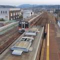 JR可児駅:歩道橋の上から見下ろした太多線の車両 - 2