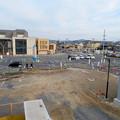 駅前広場工事中のJR可児駅・名鉄新可児駅前(2019年2月24日) - 2