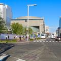 Photos: 錦通沿いから見た再整備工事中の久屋大通公園と愛知芸術文化センター - 1