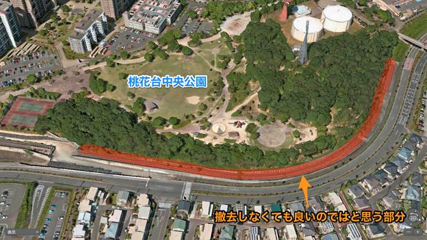 桃花台線の撤去しなくても良いのではと思う部分 - 1:桃花台中央公園沿い