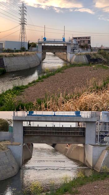 底が深くなった新木津用水の水門付近 - 4