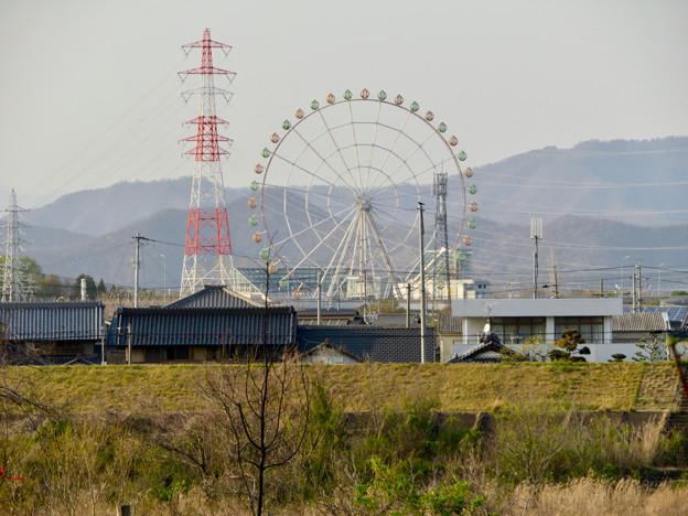 木曽川沿いから見た木曽三川公園の大観覧車「オアシスホイール」 - 3