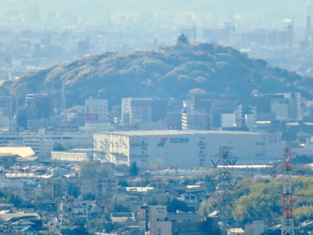 尾張戸神社の展望台から見た景色 - 12:小牧山