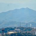 Photos: 尾張戸神社の展望台から見た景色 - 21:スカイステージ33越しに見えた岐阜城・金華山