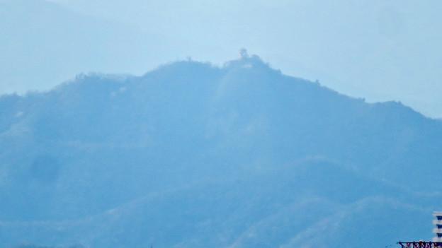 尾張戸神社の展望台から見た景色 - 23:岐阜城・金華山