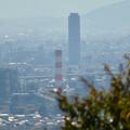 Photos: 尾張戸神社の展望台から見た景色 - 30:王子製紙の向上越しに見たザ・シーン城北