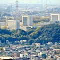 尾張戸神社の展望台から見た景色 - 33:中部大学