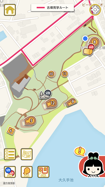 iOSアプリ「Go!Go!しだみ古墳群」 - 8:古墳マップ